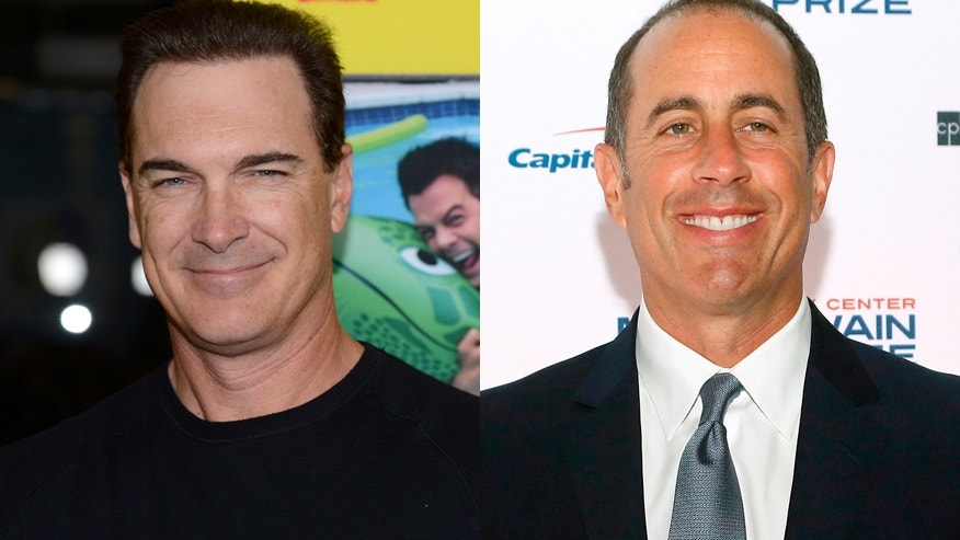 Actor Patrick Warburton (left) and comedian Jerry Seinfeld.