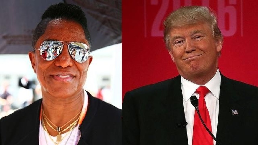Jermaine Jackson and Donald Trump
