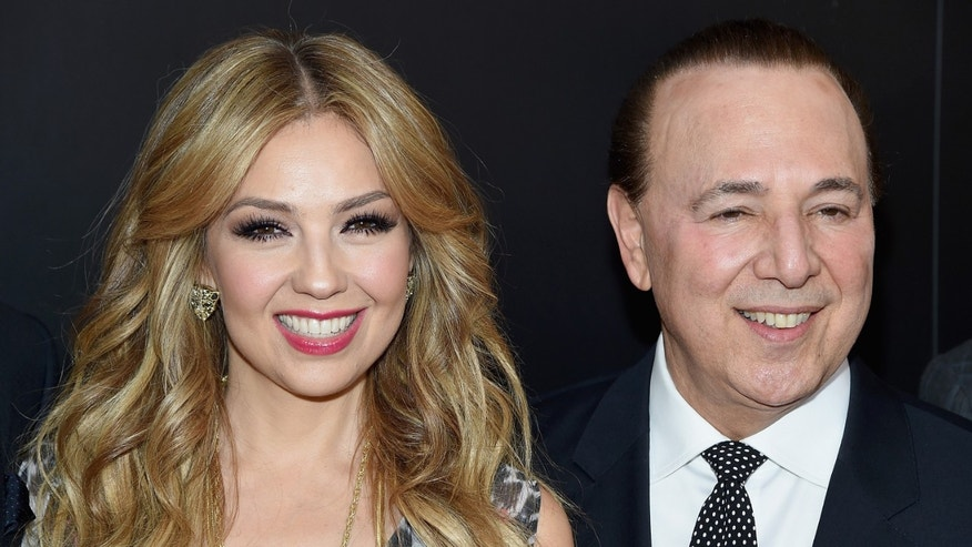 NEW YORK, NY - MARCH 04:  Thalia and Tommy Mottola attend the launch of the Thalia Sodi Collection at Macy's Herald Square on March 4, 2015 in New York City.  (Photo by Jamie McCarthy/Getty Images)