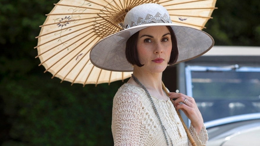 "Michelle Dockery as Lady Mary in a scene from the final season of ""Downton Abbey."""
