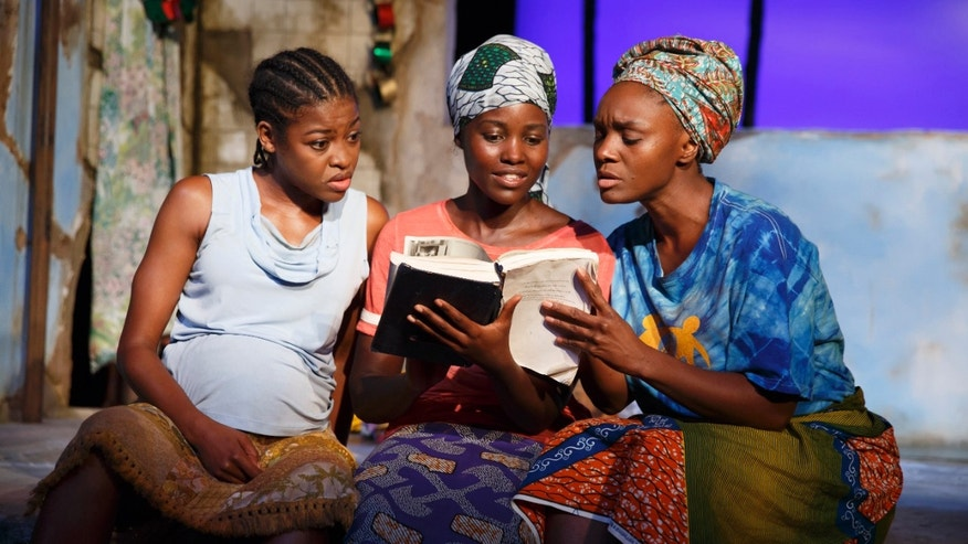 "Pascale Armand, Lupita Nyongâo, and Saycon Sengbloh in ""Eclipsed."""