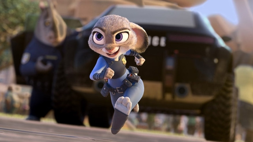 This image released by Disney shows Judy Hopps, voiced by Ginnifer Goodwin, in a scene from the animated film, 'Zootopia.' (Disney via AP)
