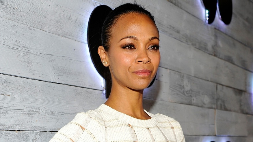 Actress Zoe Saldana on September 24, 2015 in Los Angeles, California.
