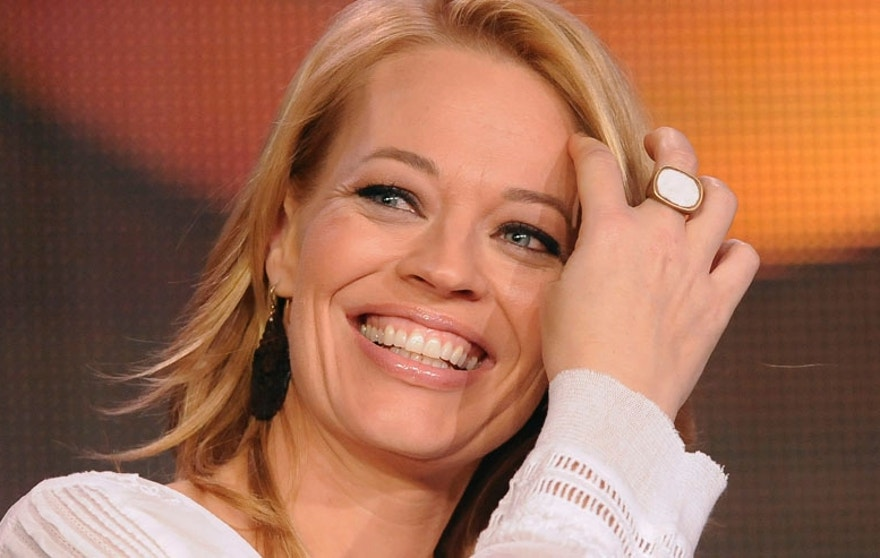 "Actress Jeri Ryan takes part in a panel discussion of ABC's series ""Body of Proof"" during the 2013 Winter Press Tour for the Television Critics Association in Pasadena, California, January 10, 2013. REUTERS/Gus Ruelas (UNITED STATES - Tags: ENTERTAINMENT) - RTR3CAVB"