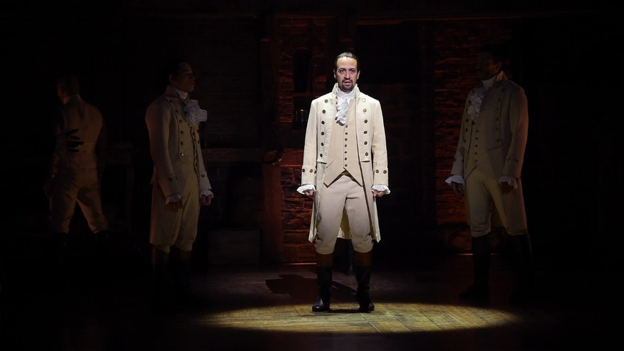'Hamilton's actor, composer Lin-Manuel Miranda at R. Rodgers Theater on February 15, 2016 in New York City.