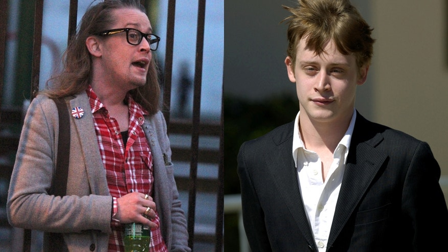 Actor Macaulay Culkin in 2016 (left) and in 2005 (right).