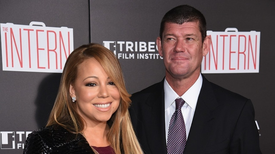 Mariah Carey and James Packer at Ziegfeld Theater on September 21, 2015 in New York City.