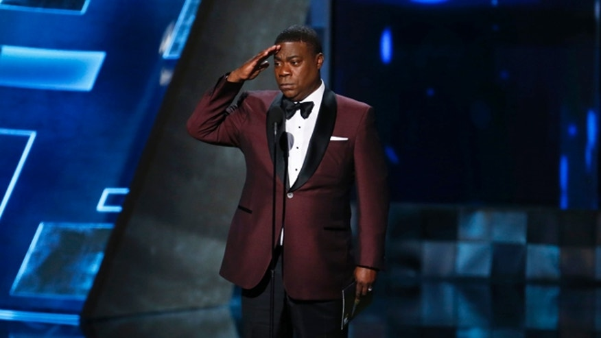 September 20, 2015. Tracy Morgan presents the Outstanding Drama Series award during the 67th Primetime Emmy Awards in Los Angeles, California.