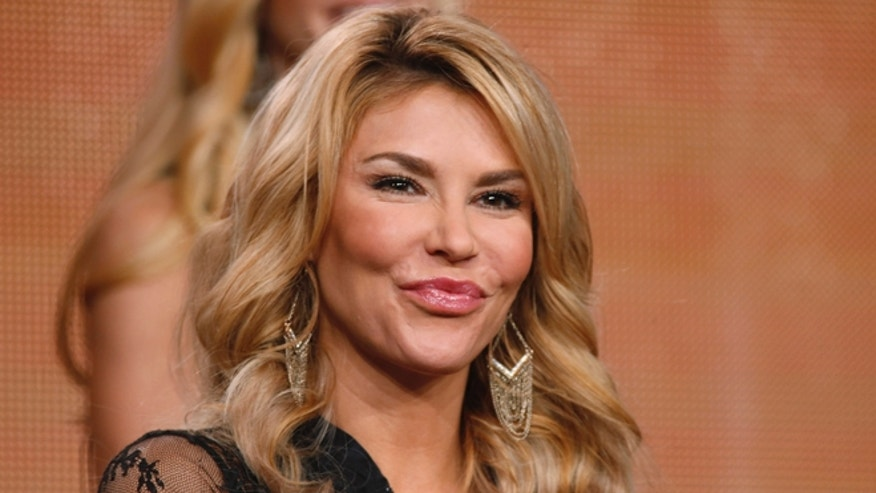 January 16, 2015. Brandi Glanville at the TCA presentations in Pasadena, California.
