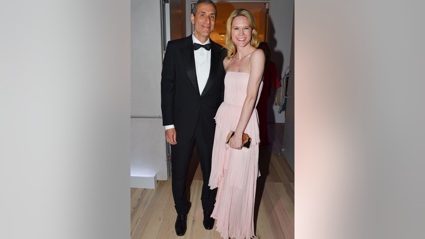 Actress Stephanie March and Daniel Benton pose for a picture at the Whitney Museum of American Art in New York City.