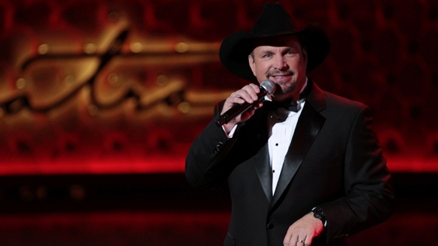 December 2, 2015. Singer Garth Brooks performs during Sinatra 100 - An All-Star Grammy Concert in Las Vegas, Nevada.