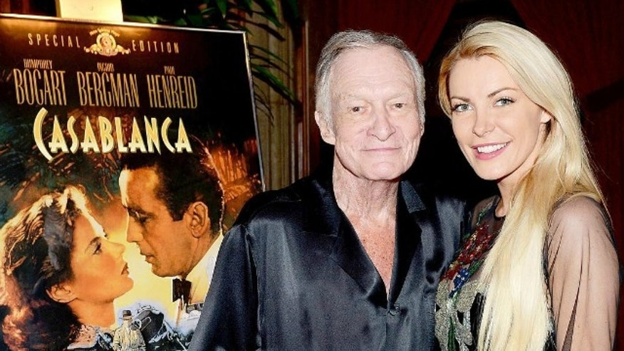 Hugh Hefner and his wife Crystal.