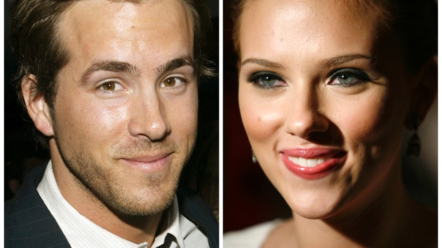 Actor Ryan Reynolds is pictured in Hollywood, California in April 7, 2005 and actress Scarlett Johansson (R) is pictured in New York City in July 26, 2006 in this combination photo.