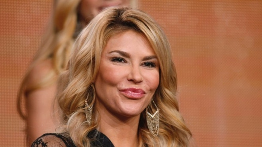 "January 16, 2015. Participant Brandi Glanville speaks about the NBC television show ""The Celebrity Apprentice"" during the TCA presentations in California."