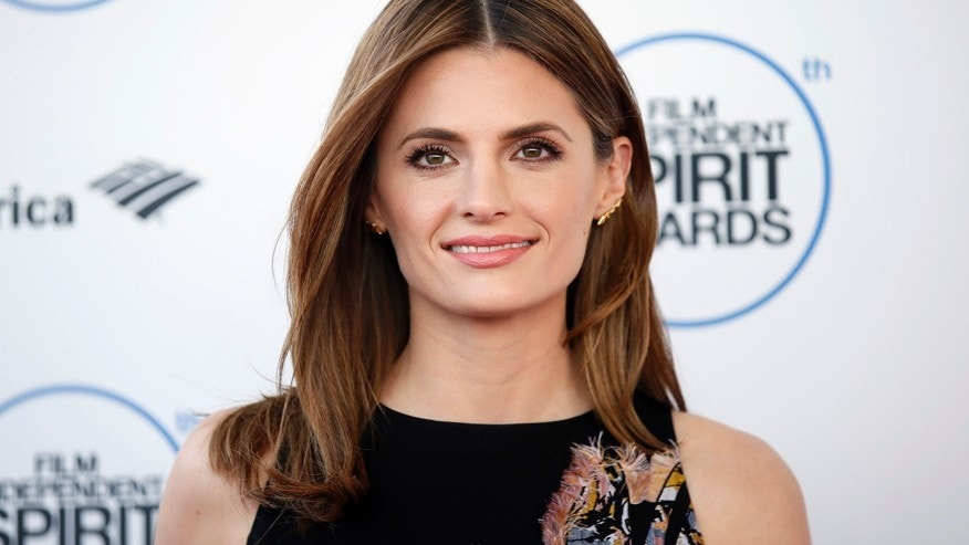 Actress Stana Katic arrives at the 2015 Film Independent Spirit Awards in Santa Monica, California February 21, 2015.