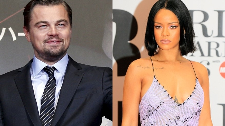 Leonardo DiCaprio, left, and Rihanna were snapped spending some time together. REUTERS