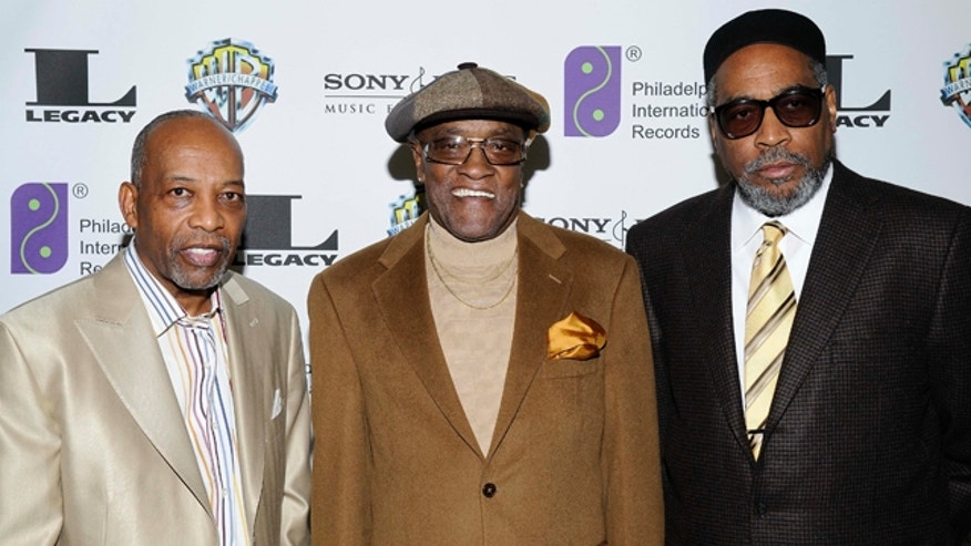 FILE- In this Feb. 6, 2008, file photo, Leon A. Huff, cofounder and vice chairman of Philadelphia International Records, left, singer Billy Paul, center,  and Kenneth Gamble, arrive at 'A Special Evening of Conversation Insight and Music' in Los Angeles. Paul's co-manager, Beverly Gay, told The Associated Press that Paul died Sunday at his home in Blackwood, N.J. (AP Photo/Earl Gibson III, File)