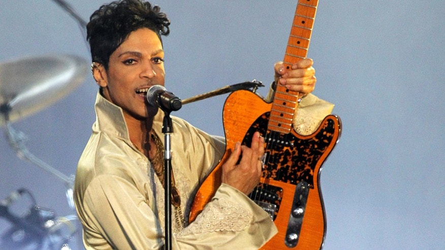 Prince performing in Britain in 2011.