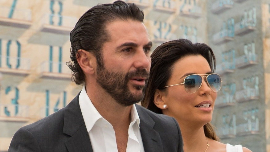 Jose Antonio Baston and Eva Longoria in a May 2014 file photo.