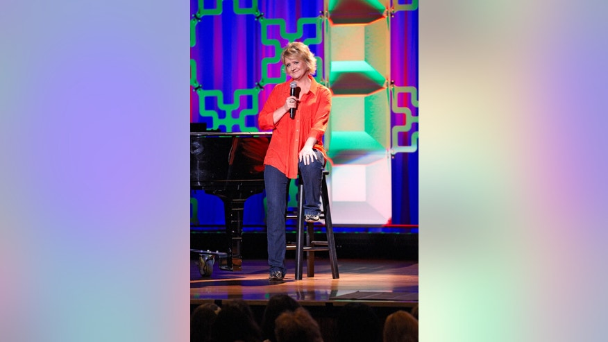 Comedian Chonda Pierce performs at the Ryman Auditorium in Nashville, TN.