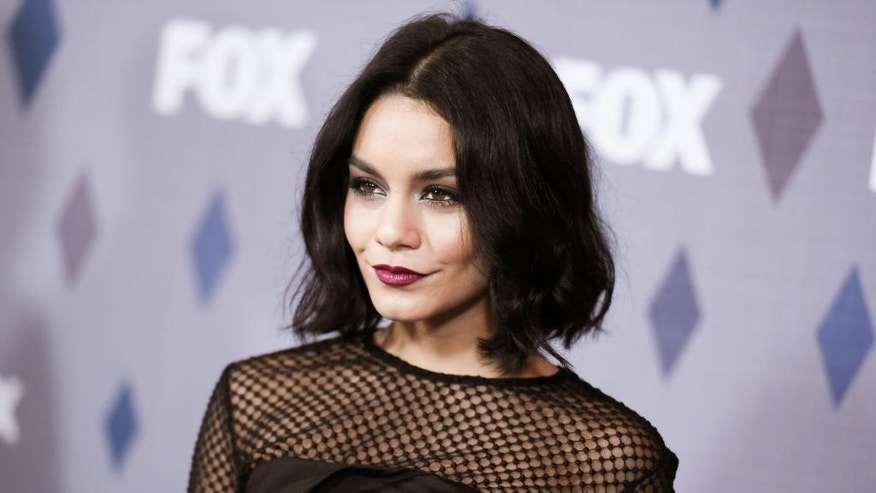 FILE - In this Jan. 15, 2016, file photo, actress Vanessa Hudgens attends the FOX All-Star Party at the Fox Winter TCA in Pasadena, Calif.