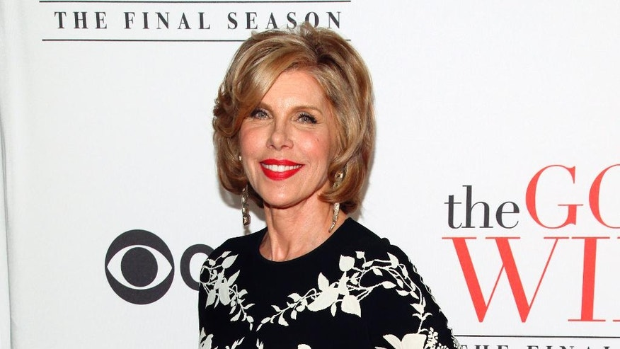 "In this April 28, 2016 file photo, Christine Baranski attends ""The Good Wife"" series finale party in New York."