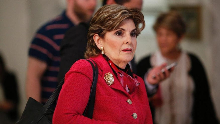 Attorney Gloria Allred speaks to the media during a recess at the Montgomery County Courthouse for a preliminary hearing for Bill Cosby, Tuesday, May 24, 2016, in Norristown, Pa. Cosby was ordered to stand trial on sexual assault charges after a hearing that hinged on a decade-old police report. (Dominick Reuter/Pool Photo via AP)