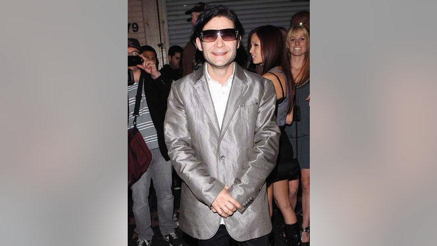 Corey Feldman slick in silver at Premiere Club in Los Angeles on December 2, 2010 in New York City.  X17online.com