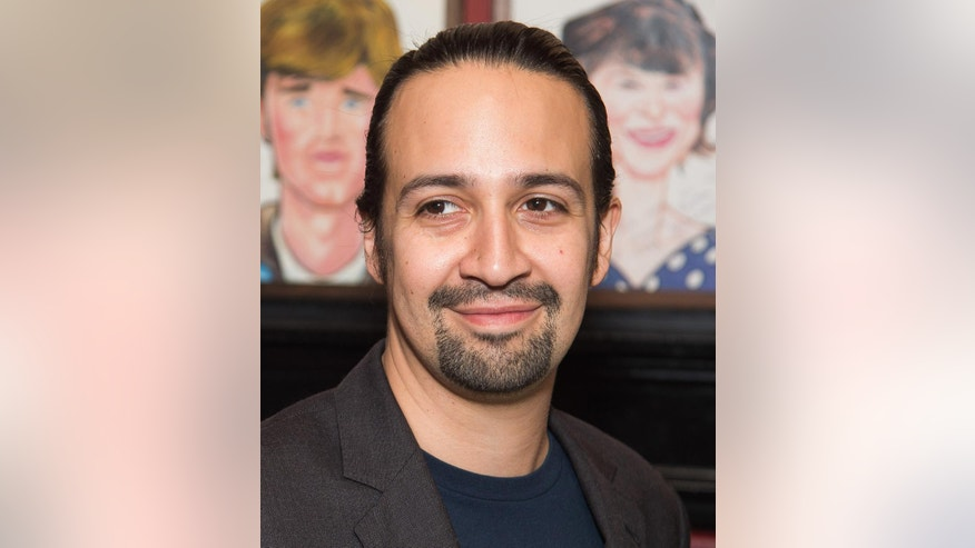 "FILE - In this May 24, 2016 file photo, Lin-Manuel Miranda attends his Sardi's caricature unveiling at Sardi's restaurant in New York. Miranda will star with Emily Blunt in ""Mary Poppins Returns,"" a sequel to the 1964 classic, which will be released on Dec. 25, 2018. (Photo by Charles Sykes/Invision/AP, File)"