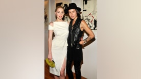 "Amber Heard and Tasya Van Ree attend Tasya Van Ree's private viewing of ""Distorted Delicacies"" at Vs. Magazine & Creative Studios Paris' Space on June 22, 2011 in New York City."