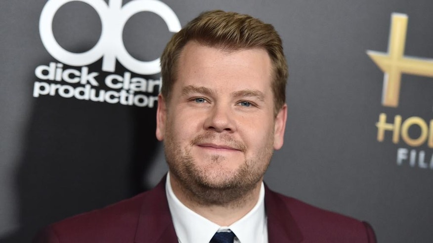 "FILE - In this Nov. 1, 2015, file photo, James Corden arrives at the Hollywood Film Awards in Beverly Hills, Calif. Corden told Howard Stern in a June 6, 2016, interview that he has no interest in taking over for ""Late Show"" host Stephen Colbert. (Photo by Jordan Strauss/Invision/AP, File)"