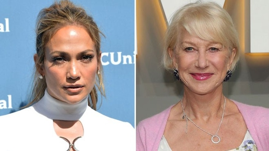 Jennifer Lopez (left) and Helen Mirren. (Photos: Getty Images)