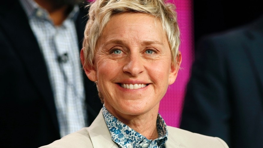 "Executive Producer Ellen DeGeneres speaks about the NBC television show ""One Big Happy"" during the TCA presentations in Pasadena, California, January 16, 2015."