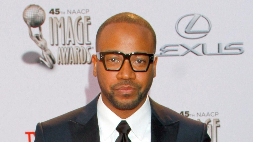 FILE - In this Feb. 22, 2014, file photo, Columbus Short arrives at the 45th NAACP Image Awards at the Pasadena Civic Auditorium in Pasadena, Calif. Short has been sentenced to a month in jail for violating probation in an assault case. (Photo by Arnold Turner/Invision/AP, File)
