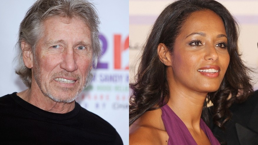 Musician Roger Waters (left) and screenwriter Rula Jebreal (center) with director Julian Schnabel.