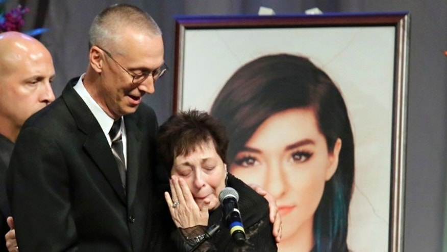 Christina Grimmie's parents Bud and Tina talk about their daughter during a memorial service.