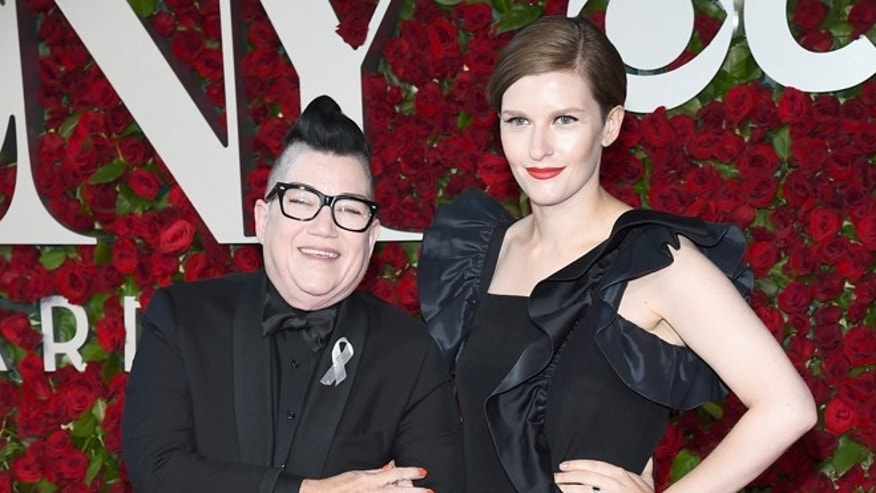 """Orange is the New Black"" star Lea DeLaria (left) spoke out about the Orlando shootings."