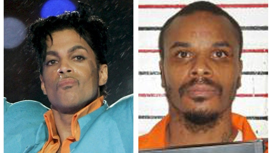 This combination of file photos shows Prince, left, in 2007 and an undated booking photo released by Missouri Department of Corrections of Carlin Q. Williams.