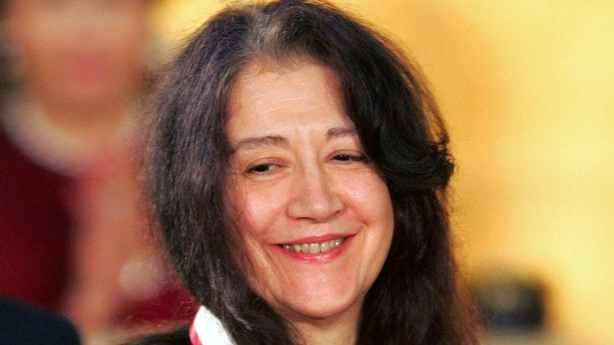 Argentinian pianist Martha Argerich in a Oct. 18 2005 file photo.
