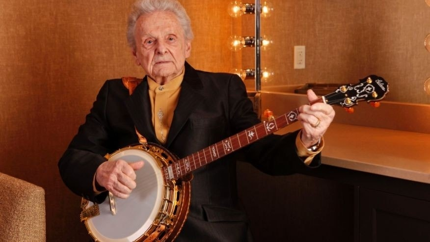 March 11, 2011. Ralph Stanley poses for a photo backstage at the Grand Ole Opry House in Nashville, Tenn. (The Associated Press)
