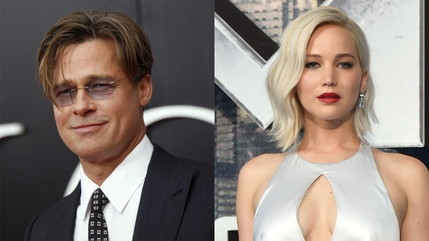 Brad Pitt, left, and Jennifer Lawrence both avoid using social media.