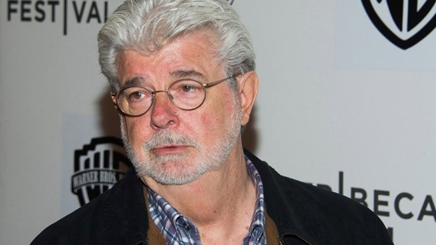 FILE - In this April 17, 2015 file photo, filmmaker George Lucas attends the Tribeca Film Festival in New York. (Photo by Charles Sykes/Invision/AP, File)