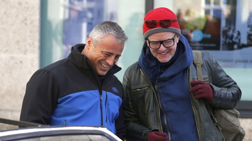 Chris Evans, right, with Matt LeBlanc in February.