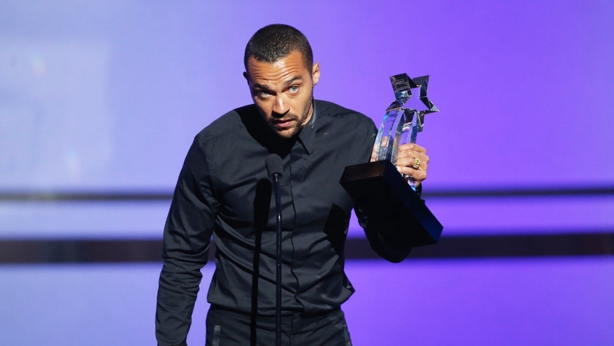 Actor Jesse Williams accepts the Humanitarian Award during the 2016 BET Awards in Los Angeles, California U.S. June 26, 2016.  REUTERS/Danny Moloshok - RTX2IDB0