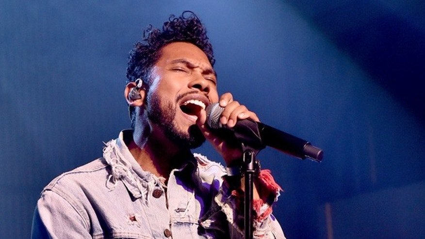 LOS ANGELES, CA - MARCH 24:  Singer Miguel performs at adidas Originals NMD Concert at a private location on March 24, 2016 in Los Angeles, California.  (Photo by Kevin Winter/Getty Images)