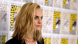 """Cara Delevingne attends the """"Valerian and the City of a Thousand Planets"""" press line on day 1 of Comic-Con International on Thursday, July 21, 2016, in San Diego. (Photo by Richard Shotwell/Invision/AP)"""