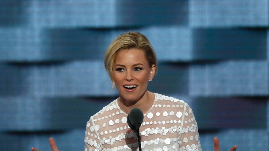 ActresAs Elizabeth Banks speaks on the second day at the Democratic National Convention in Philadelphia, Pennsylvania, U.S. July 26, 2016.