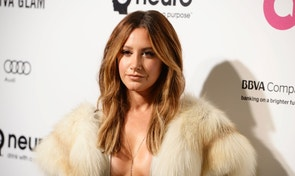 Actress Ashley Tisdale arrives at the Elton John AIDS Foundation Academy Awards Viewing Party in West Hollywood, California February 28, 2016. REUTERS/Gus Ruelas - RTS8I36