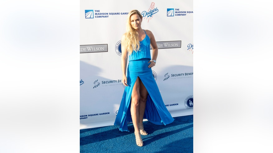 Lindsey Vonn wore a daring dress on the red carpet on July 28, 2016.