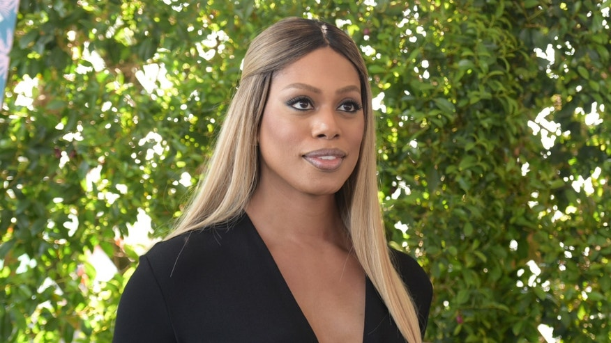 Laverne Cox arrives at the Teen Choice Awards at the Forum on Sunday, July 31, 2016, in Inglewood, Calif. (Photo by Richard Shotwell/Invision/AP)